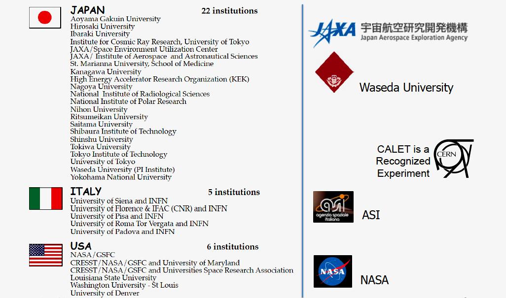 CALET-Institutions-2014